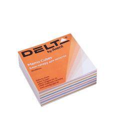 Блок бумаги для заметок непроклеенный Axent 90x90x30мм ассорти цветов D8013