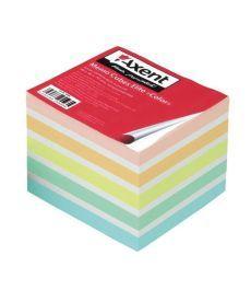 Блок бумаги для заметок непроклеенный Axent 90x90x40мм ассорти цветов 8026-A