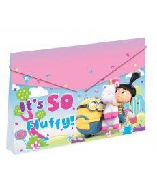 Папка пласт. на резинці 38x25см ''Minions Fluffy'' Yes 491684