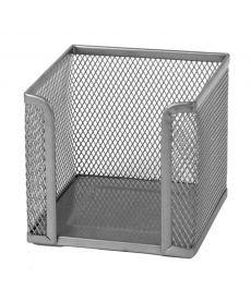 Подставка для блока бумаги Axent 100х100x100мм метал.,серебро 2112-03-A