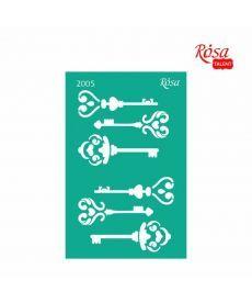 Трафарет многоразовый самоклеющийся 13x20 см №2005 Серия Влюбленные сердца