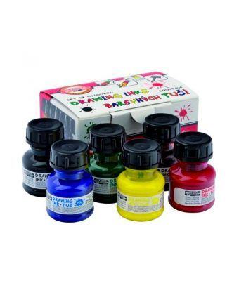 Тушь для черчения Koh-i-noor 20г набор 6 цветов 141730