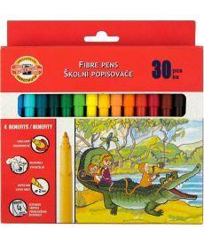Фломастеры Koh-i-noor 30 цветов картон упак. 7710СВ/30