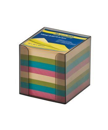 Бокс с бумагой Buromax цветная 90х90х90мм дымчатый BM.2291-02