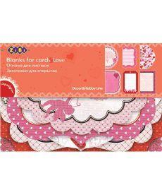 Заготовка ZiBi для открыток Love 10.2x15.3см ZB.18200-AF