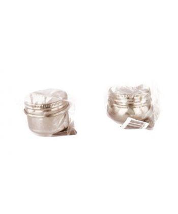 Маслёнка одинарная металлическая с крышкой d:6cм D.K.ART & CRAFT