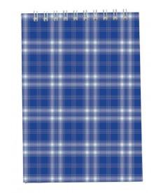 Записная книга блокнот Buromax A5,48 л. клетка карт. обл. спираль синий BM.2470-02