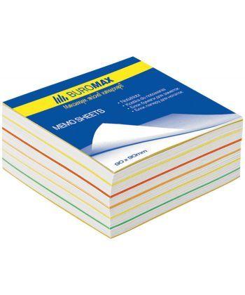 Блок бумаги для заметок проклеенный Buromax 90х90х40мм ассорти цветов BM.2244
