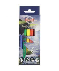 Фломастеры Koh-i-noor Dino набор 6 цветов картон 1002/6