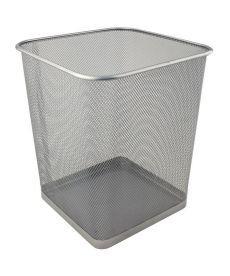 Корзина офисная для бумаг Axent 270x300мм метал.,серебристая,квадратная 2124-03-a
