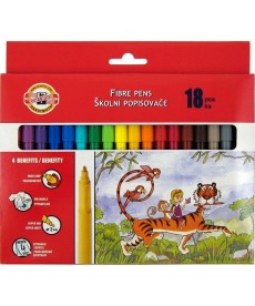 Фломастеры Koh-i-noor 18 цветов картон упак. 7710СВ/18