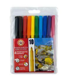 Фломастеры Koh-i-noor 10 цветов пластик упак. 7710ЕТ/10