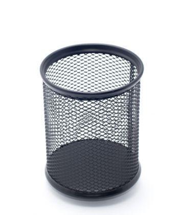 Стакан-подставка для ручек Axent 80х80х100мм металическая чёрная круглая 2110-01-A