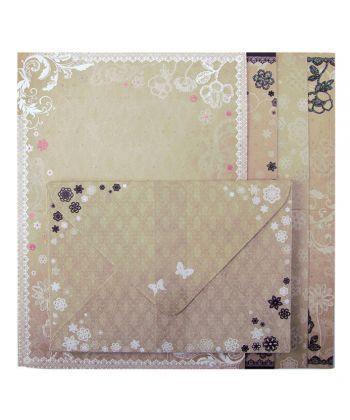 Заготовка ZiBi для открыток с цветными конвертами Vintge 10.5x14.8см ZB.18221-AD