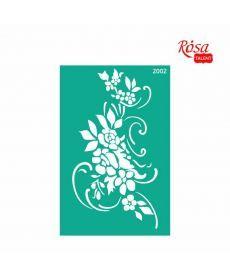 Трафарет многоразовый самоклеющийся 13x20 см №2002 Серия Цветы