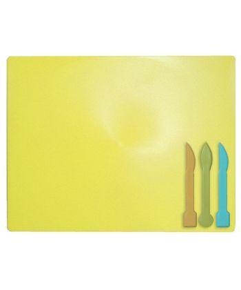 Доска для пластилина ZiBi пластиковая 3 стека желтый ZB.6910-08