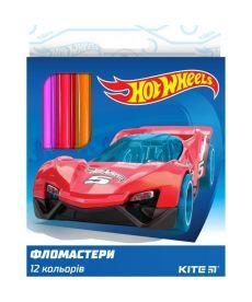 Фломастеры Kite 12 цветов Hot Wheels HW19-047