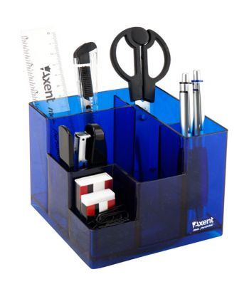 Набор настольный Axent Cube 9 пред карт кор синий 2106-02-A