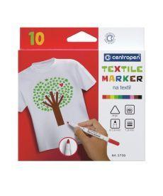 Маркер для ткани Textile Centropen 2 мм набор 10 цветов 273910