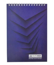 Записная книга блокнот Buromax Jobmax А5,48 л. клетка мяг. обл. спираль синий перф. BM.2474-02