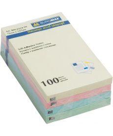 Блок бумаги для заметок липкий слой Buromax 76x127мм 100л ассорти цветов BM.2314-99