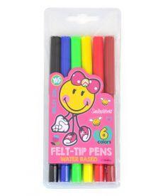 Фломастеры 6 цв. ''Smiley World''(pink)