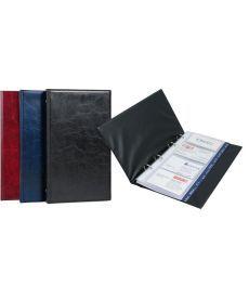 Папка визитница Xepter Axent 79 визиток бордовый на кольцах 2503-04-А