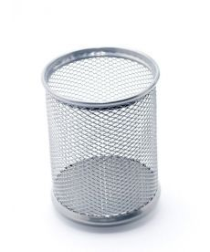 Стакан-подставка для ручек Axent 80х80х100мм металическая серебрянная круглая 2110-03-A