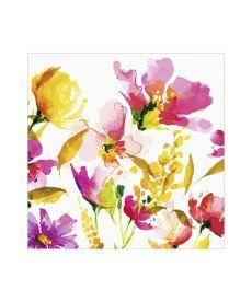 Салфетки декупажные Jet Papier GmbH Акварельные цветы желтые 33x33 см 17.5 г/м2 20 шт ti-flair 41030