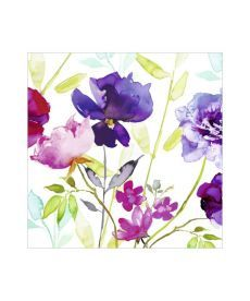 Салфетки декупажные Jet Papier GmbH Акварельные цветы цветные 33x33 см 17.5 г/м2 20 шт ti-flair 4103