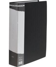 Папка c 100 файлами А4 в чехле чёрный