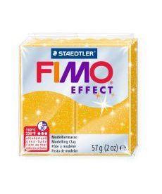 Пластика Effect Золото с блестками 57г Fimo