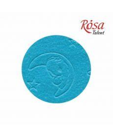 Фетр листовой полиэстер 21.5х28 см эмбосинг Голубой Мишка на луне 180г/м2