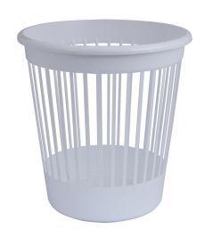 Корзина офисная для бумаг 10 л. пластик белый