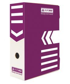 Бокс для архивации Buromax 100мм фиолетовый BM.3261-07