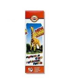 Пластилин Koh-i-noor Жираф 10 цветов мягкий 200г 131504
