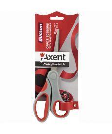 Ножницы Axent Duoton 20см канцелярские серо-красные 6302-06-А