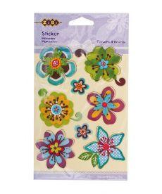 Наклейки многоярусные Flowers&Herts 11x15см