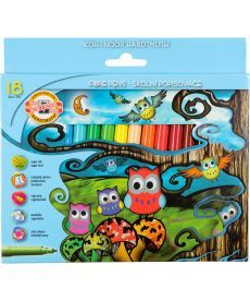 Фломастеры Koh-i-noor 18 цветов Совята картон упак. 1012СВ/18