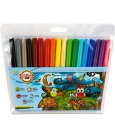 Фломастеры Koh-i-noor 18 цветов Совята пластик упак. 1012ЕТ/18