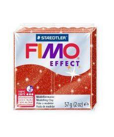 Пластика Effect Красная с блестками 57г Fimo