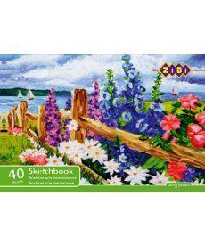 Альбом для рисования ZiBi A4 40л 100г/м2 склейка ZB.1460