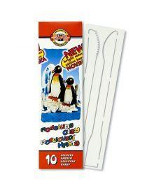 Пластилин Koh-i-noor Пингвины 10 цветов и два стека мягкий 200г 131506