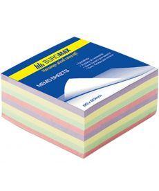 Блок бумаги для заметок проклеенный Buromax 80х80х30мм ассорти цветов BM.2272