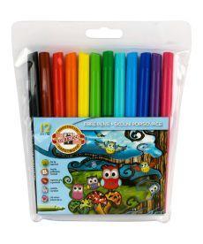Фломастеры Koh-i-noor 12 цветов Совята пластик упак. 1012ЕТ/12