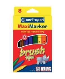 Фломастеры Centropen 8 цветов кисточка Brush 8773/08