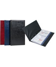 Папка визитница Xepter Axent 80 визиток черный на кольцах 2503-01-А