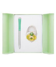 Набор подарочный Fairy Tale: ручка шариковая + крючек д сумки зеленый
