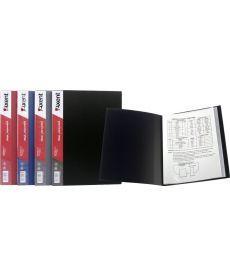 Папка с файлами Axent А4 дисплей-книга 60 файлов бордовая 1060-04-А