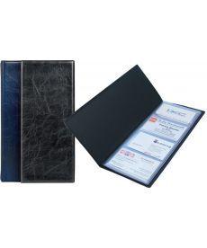 Папка визитница Xepter Axent 80 визиток синий 2502-02-А